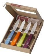 Opinel Colored Paring Knife Set of 4