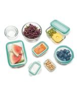 16 pc Smart Seal Containers - Glass - top view - 11179600