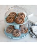 Nordic Ware 2-Tiered Dessert Stand with Dome Lid