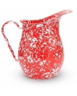 Crow Canyon Enameled Pitcher Red Marble