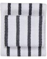 White-and-Black Basketweave 100% Cotton Dish Towel: 140213