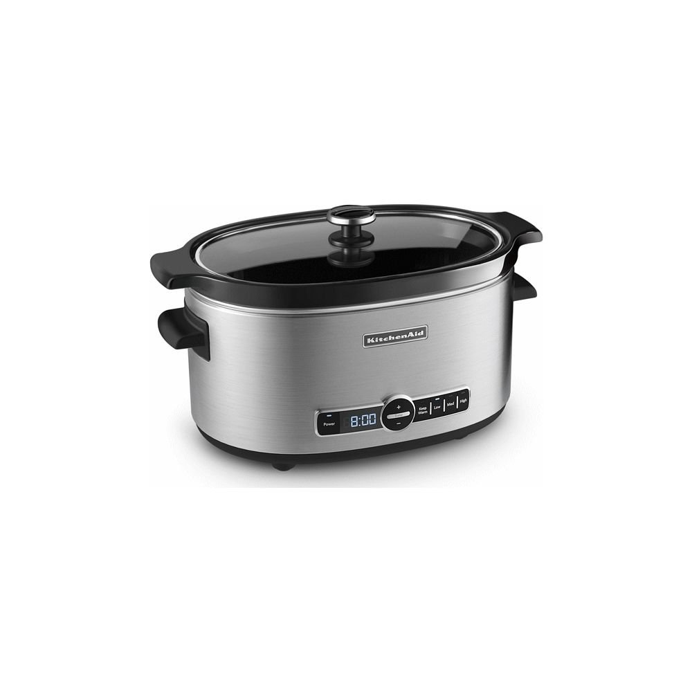 Slow Cooker 6 Quart W Glass Lid Stainless Steel Kitchenaid Everything Kitchens