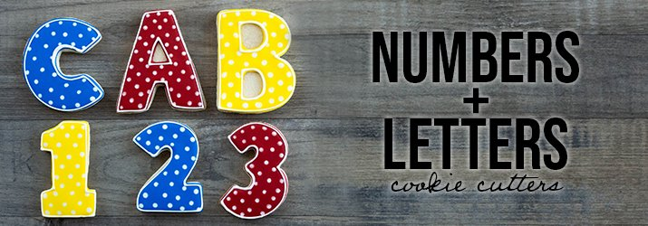 Numbers and Letters Cookie Cutters Shop Now