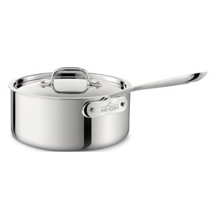 All-Clad Stainless Steel Saucepans with Lid | Multiple Sizes Available