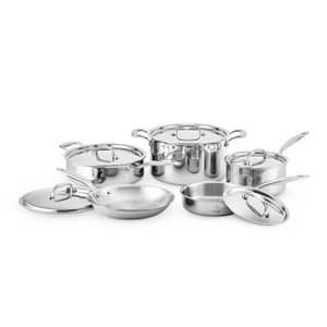 Heritage Steel Cookware by Hammer Stahl 10 Piece Cookware Set