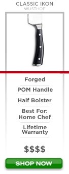 Wusthof Classic Ikon Series forged pom handle half bolster best for home chef lifetime warranty $$$$ Shop now