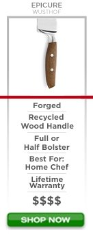 Wusthof Epicure Series forged recycled wood hanlde full or half bolster best for home chef lifetime warranty $$$$ Shop now
