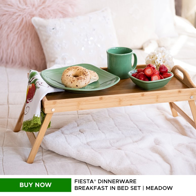 Buy Now Fiesta Dinnerware Breakfast in Bed Set Meadow