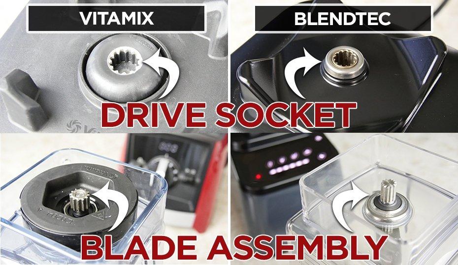 Vitamix Ascent Bledntec Designer 675 Motor Drive Socket & Blade assembly