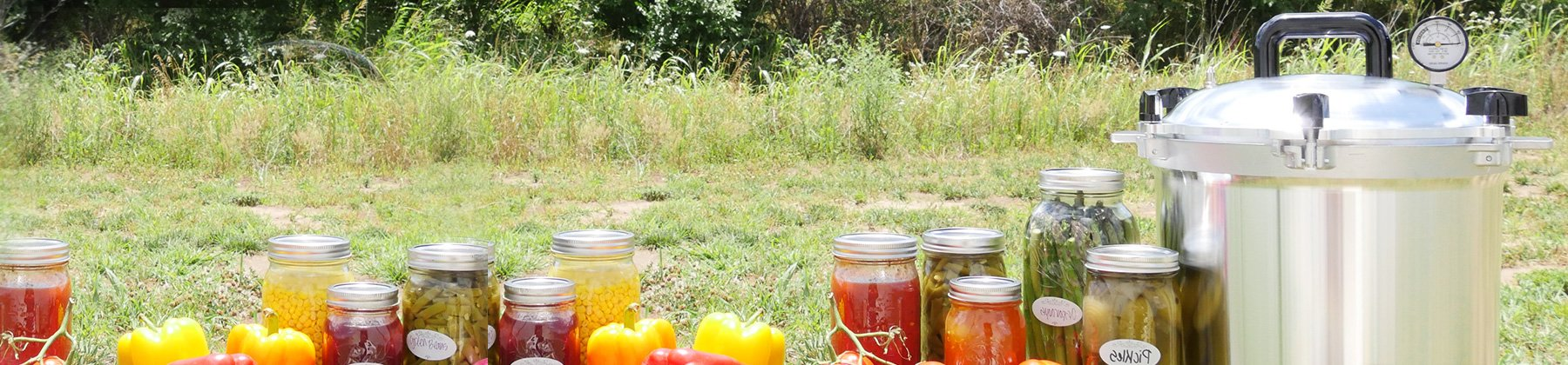 Photo of canning with All American Canner