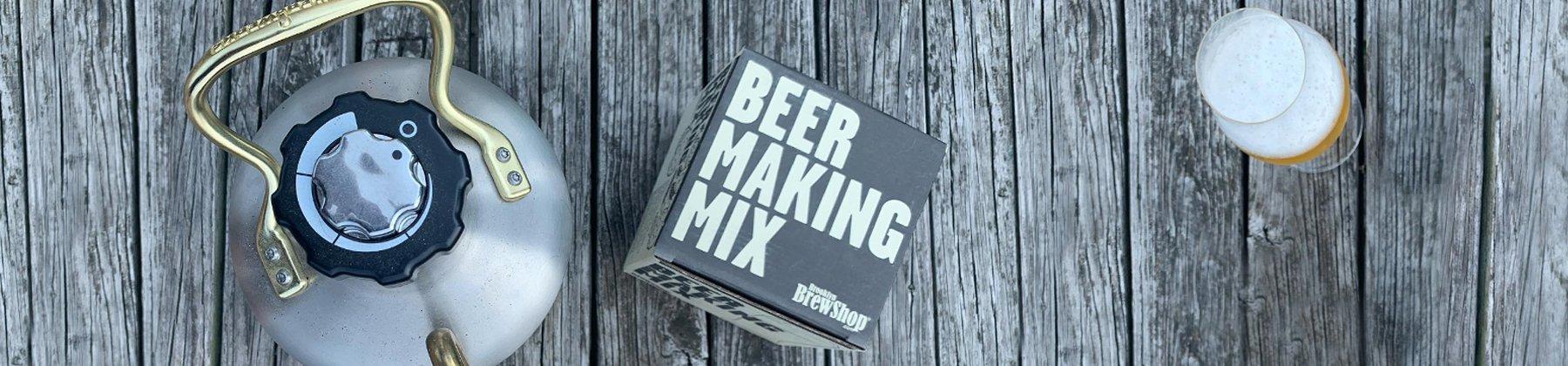 Photo of beer making kit.
