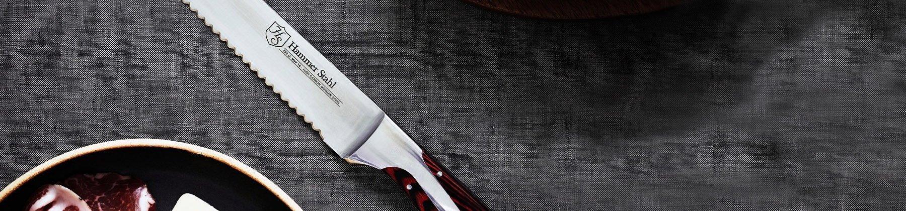 Photo of bread knives.