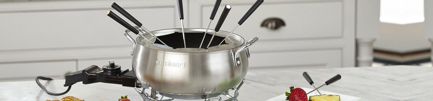Photo of fondue machine.