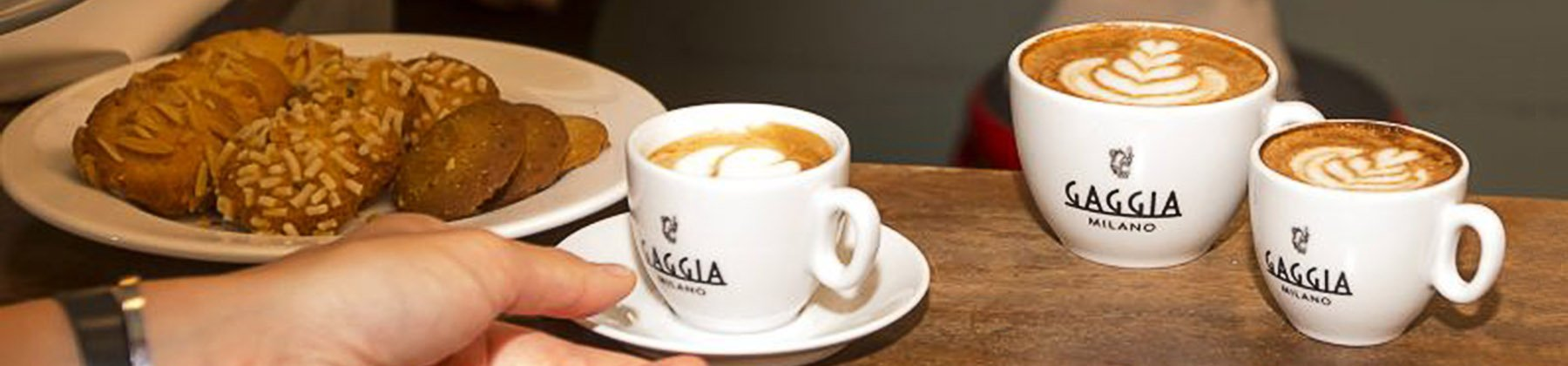 Photo of Gaggia coffee products.