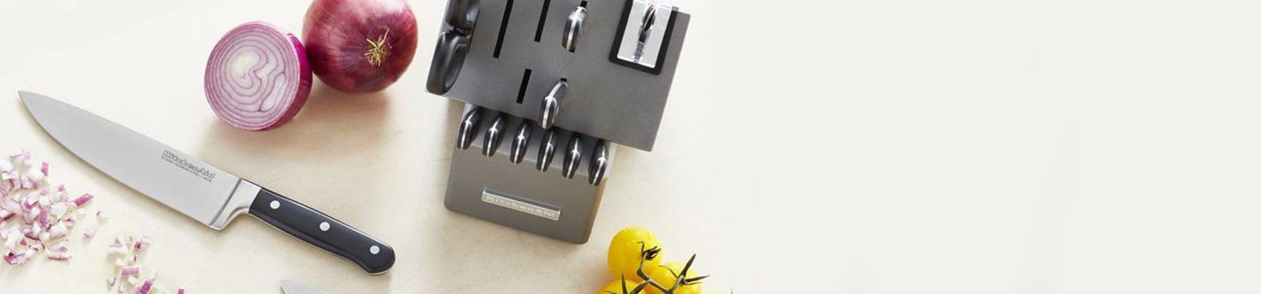 Photo of large knife block sets.