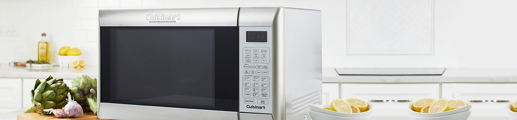 Photo of microwave ovens.