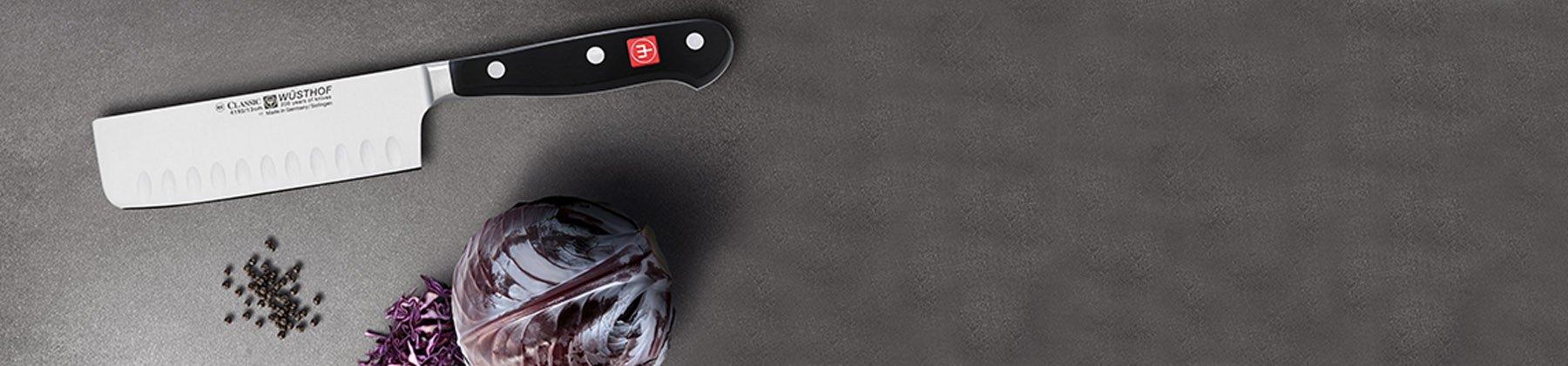 Photo of nakiri knives.