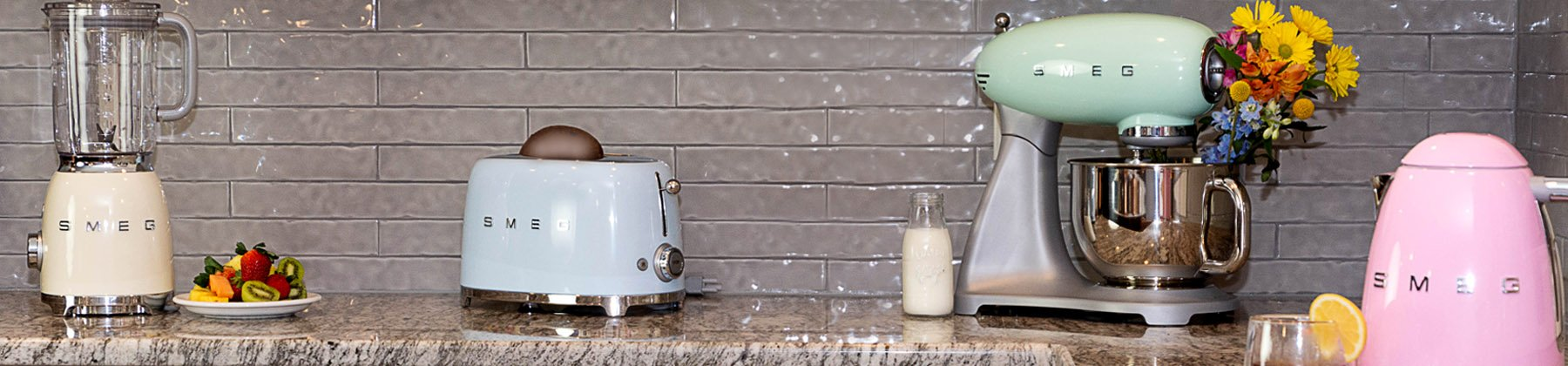 Photo of SMEG stand mixers.