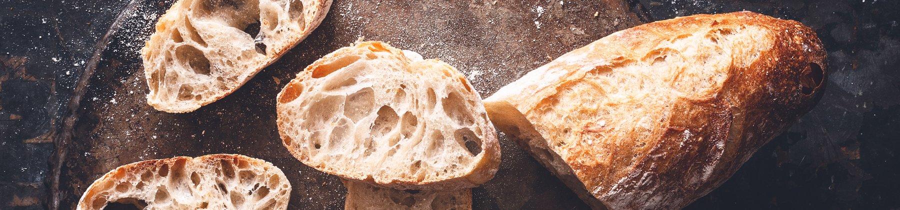 Photo of baguette bread.