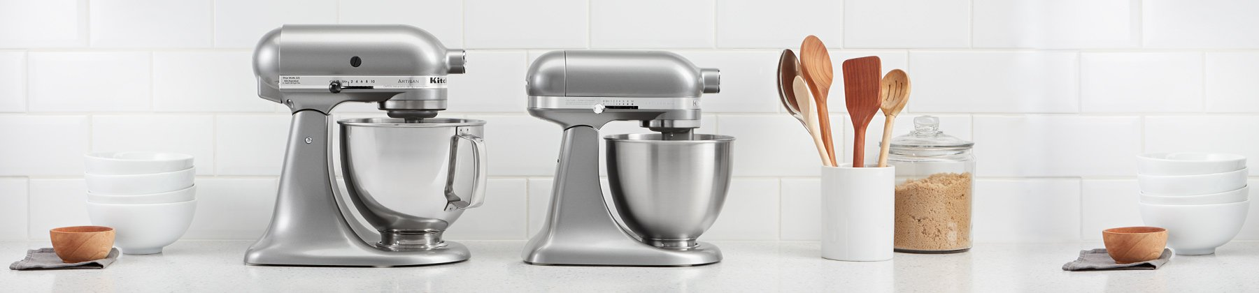 Photo of stand mixers.