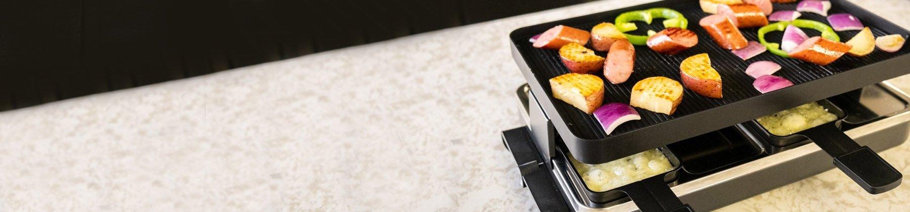Photo of Swissmar raclette party grills.