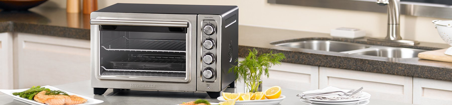 Photo of toaster ovens.