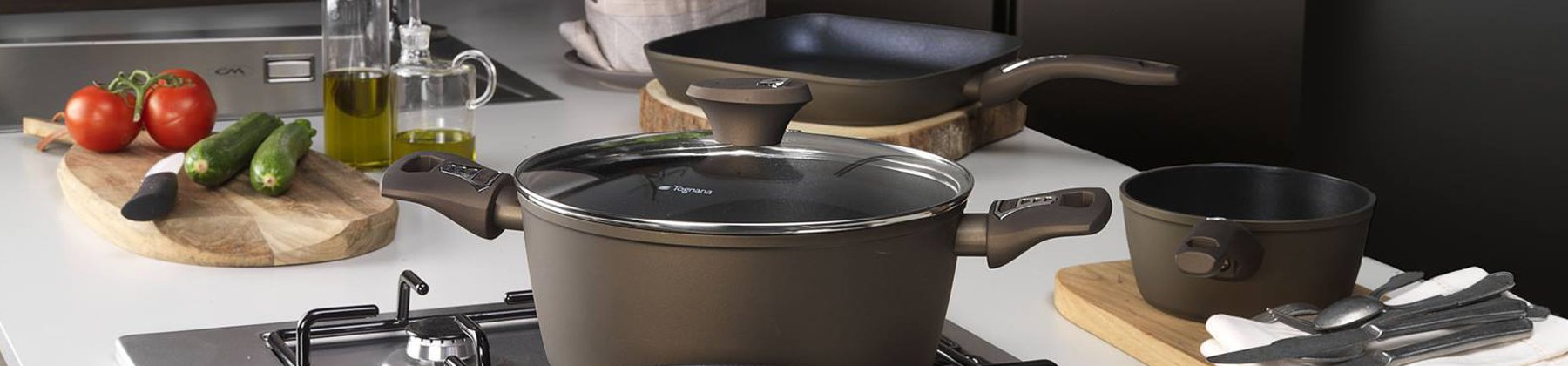 Photo of Tognana cookware on stove.