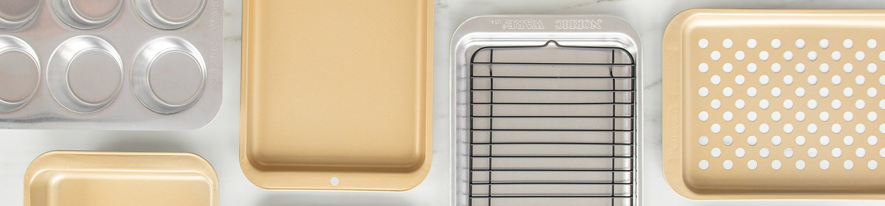 Photo of Nordic Ware sheet pans and cookie sheets.