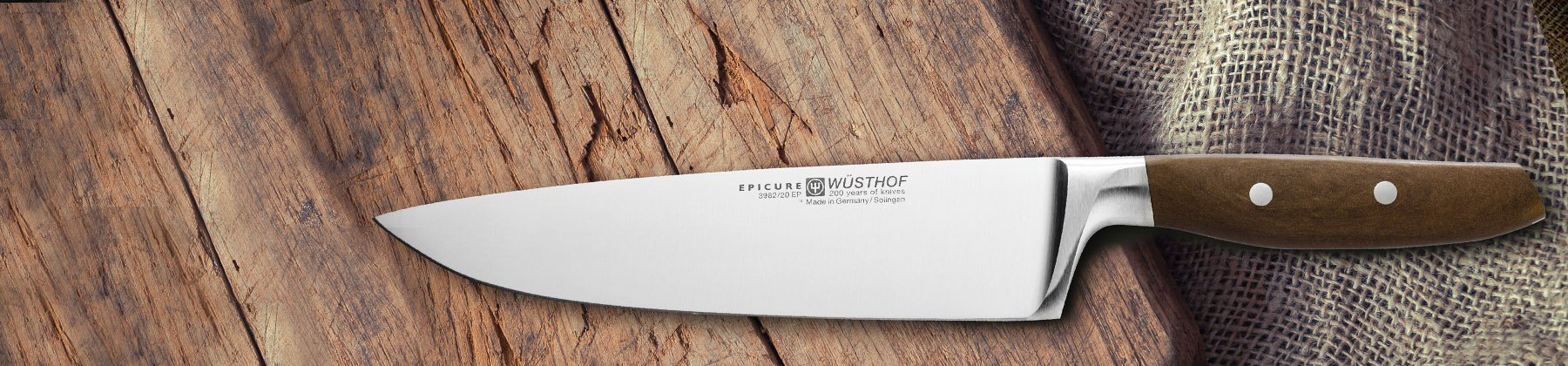 Photo of Wusthof epicutre knife.